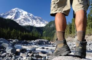 Hiker's foot