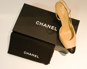 Chanel shoe with box and dust bag