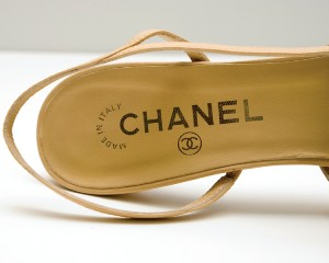 Close-up of Chanel shoe