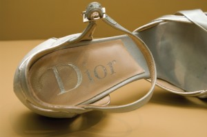 Dior label in shoe