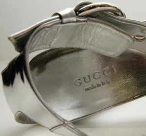 Gucci label in shoe