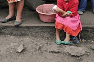 Shoes of poor people in Latin America